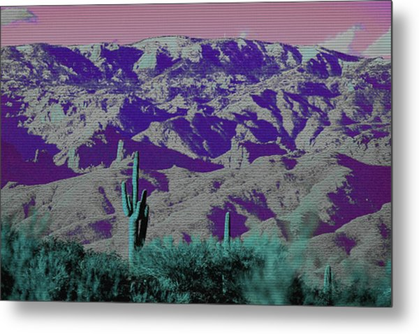 Metal Print featuring the photograph Alien Colors On Mount Lemmon by Chance Kafka