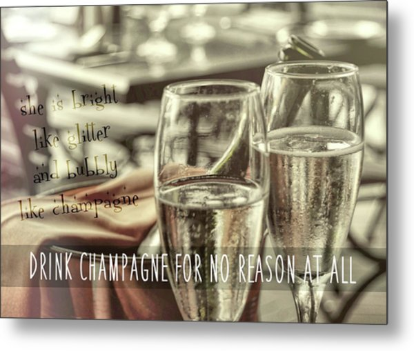 All Sparkling Quote Metal Print by JAMART Photography