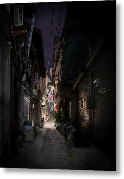 Metal Print featuring the photograph Alleyway On Old West Street by William Dickman