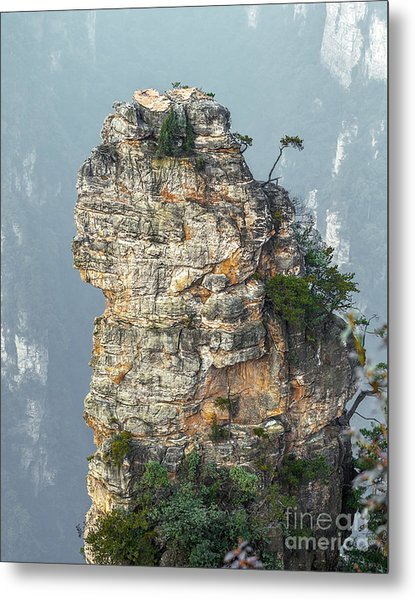 Alone Rock Column Mountain Avatar Metal Print