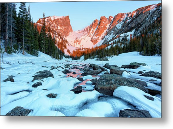 Alpenglow At Dream Lake Rocky Mountain National Park Metal Print