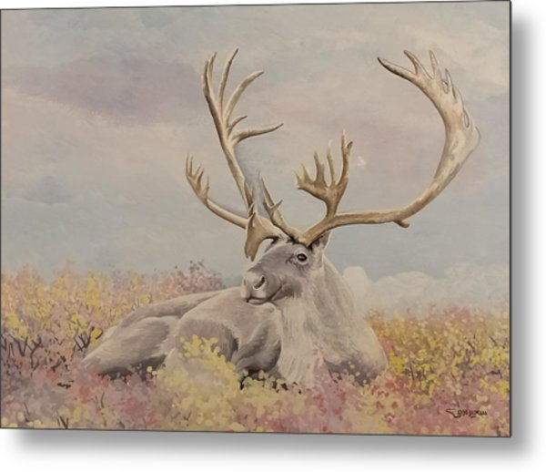 Metal Print featuring the painting Alpine Ibex by Said Marie