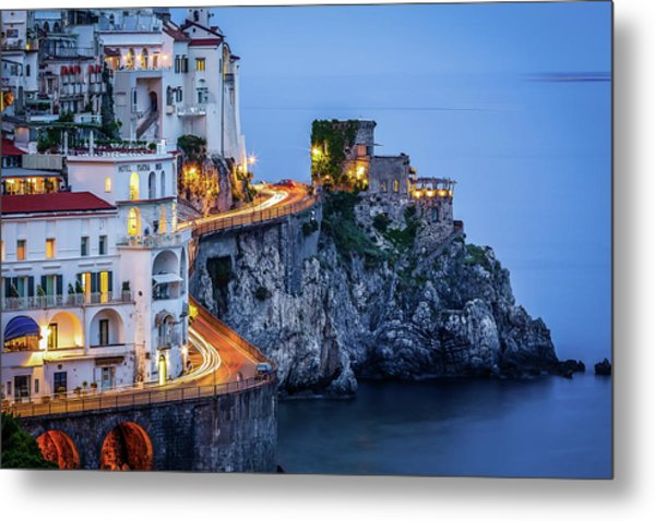 Amalfi Coast Italy Nightlife Metal Print