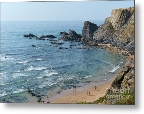 Amalia Beach From Cliffs Metal Print