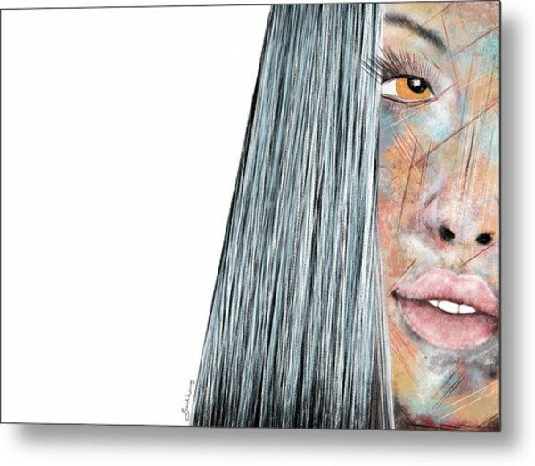 Amber Rose - Woman Abstract Art Metal Print