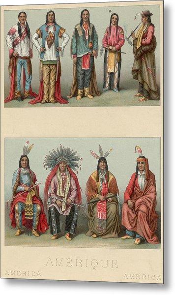 American Chiefs Metal Print by Hulton Archive