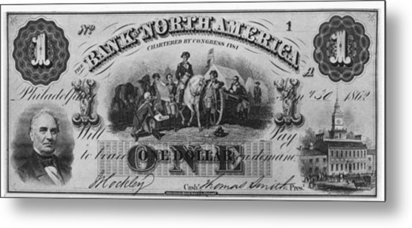 American Civil War Currency Metal Print by Kean Collection
