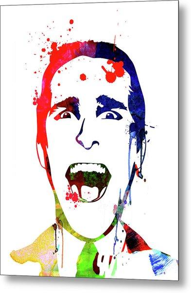 American Psycho Watercolor Metal Print