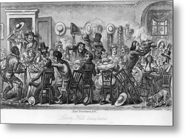American Table Manners Metal Print by Fotosearch