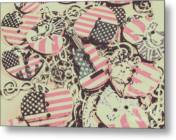 Americana Audio Metal Print