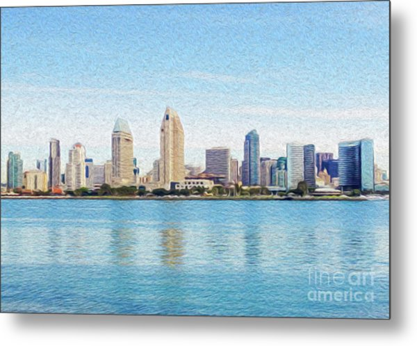 Metal Print featuring the digital art Americas Finest City by Kenneth Montgomery