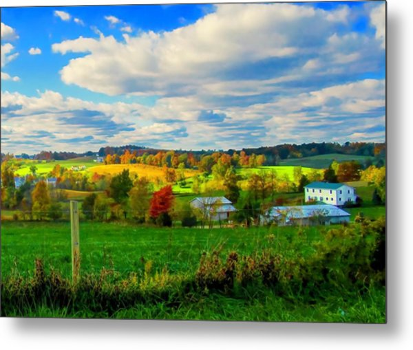 Amish Farm Beauty Metal Print
