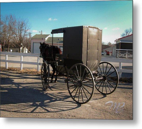 Amish Transportation Metal Print