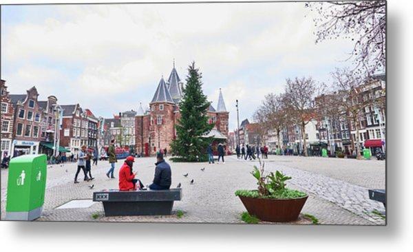 Amsterdam Christmas Metal Print