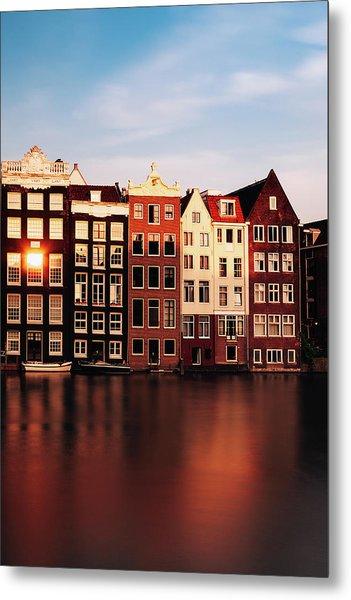 Amsterdam Glow Metal Print