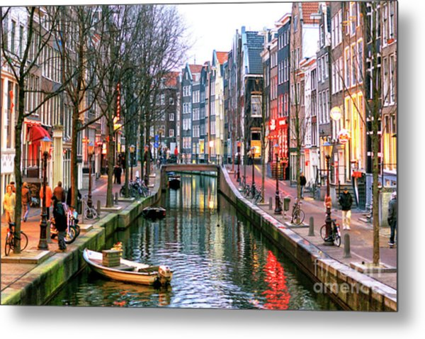 Amsterdam Red Light District Days Metal Print