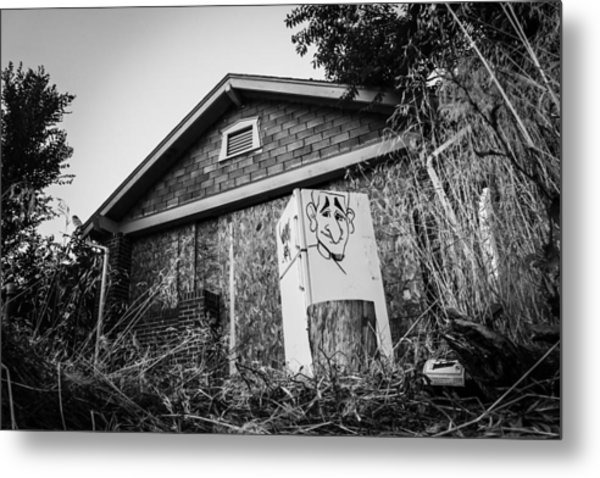 An Abandoned Home With A Personality  Metal Print