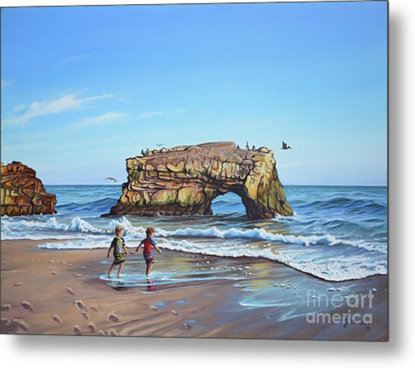 An Adventure On The Beach Metal Print