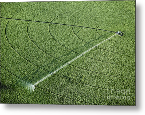 An Aerial View Of An Agricultural Metal Print