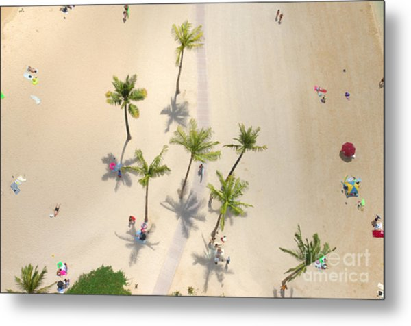 An Aerial View Of People Relaxing On A Metal Print