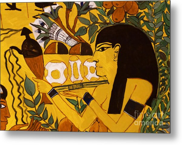 Metal Print featuring the photograph Ancient Egypt Man by Sue Harper