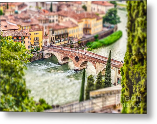 Ancient Roman Bridge Called Ponte Di Metal Print