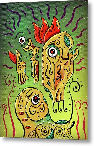 Metal Print featuring the digital art Ancient Spirit by Sotuland Art