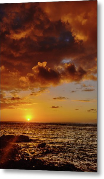 And Then The Sun Set Metal Print