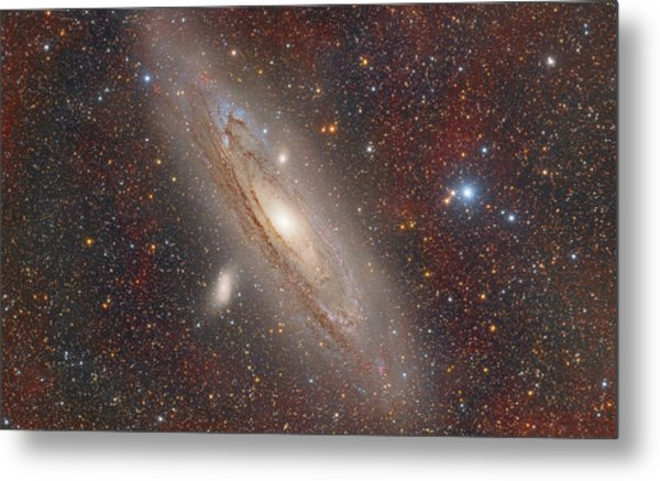 Andromeda With Hydrogen Clouds Metal Print
