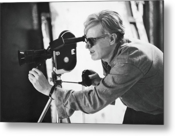 Andy Warhol Lines Up A Shot Metal Print by Fred W. Mcdarrah