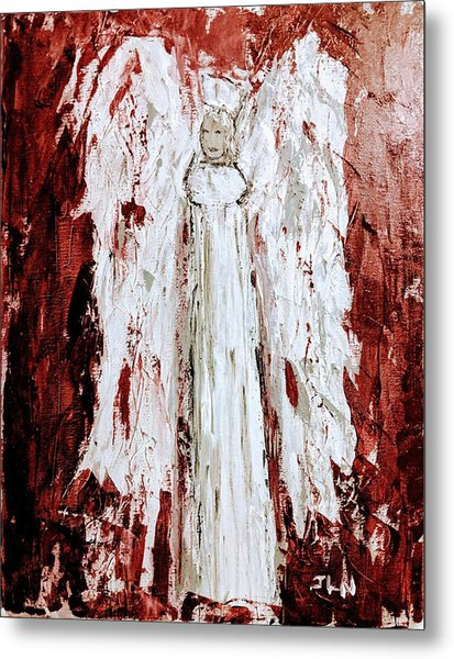 Angel Against Violence Metal Print