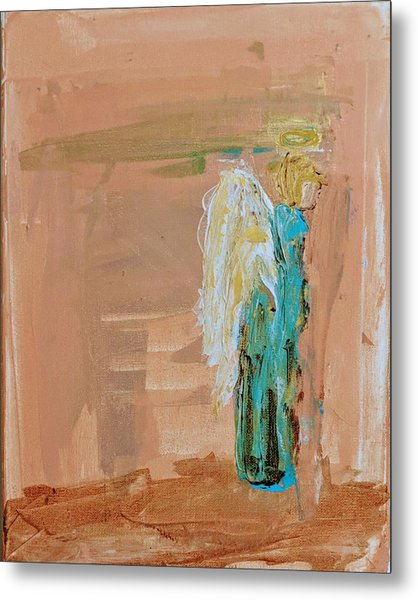 Angel Boy In Time Out  Metal Print