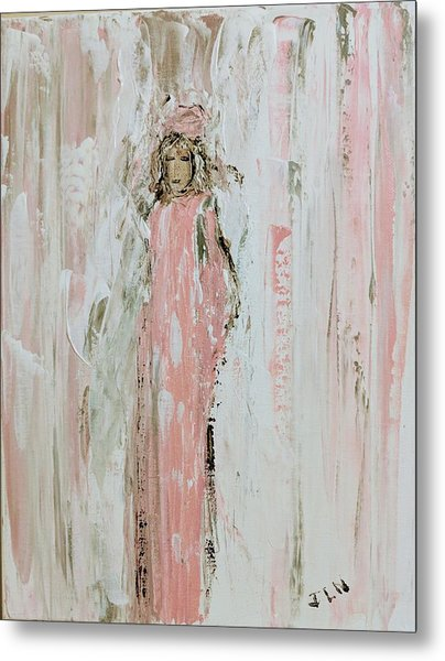 Angels In Pink Metal Print