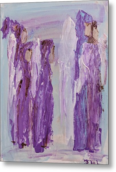 Angels In Purple Metal Print