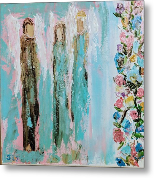 Angels In The Garden Metal Print