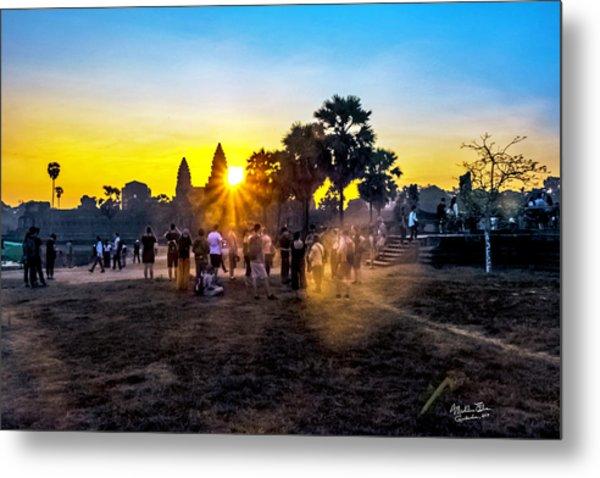 Angkor Wat At Sunrise - Siem Reap, Cambodia Metal Print