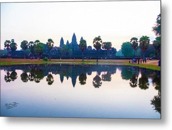 Angkor Wat Reflections Metal Print
