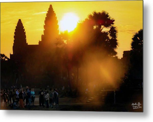 Angkor Wat Sunrise - Siem Reap, Cambodia Metal Print