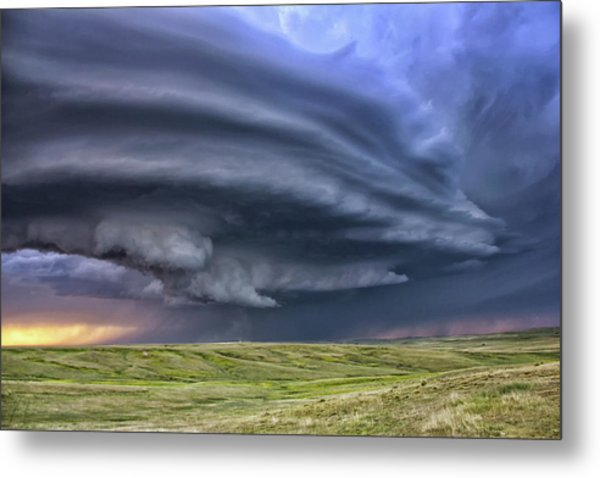 Anticyclonic Supercell Thunderstorm Metal Print by Jason Persoff Stormdoctor