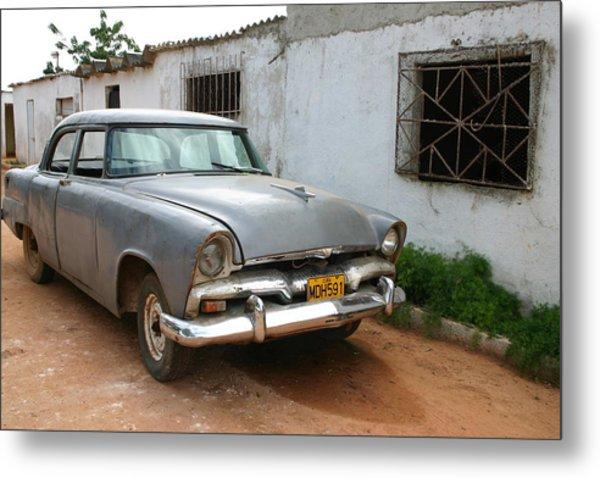 Antique Car Grey Cuba 11300501 Metal Print