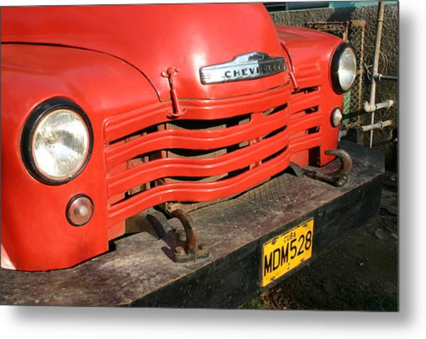 Antique Truck Red Cuba 11300502 Metal Print