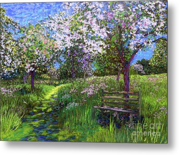 Apple Blossom Trees Metal Print