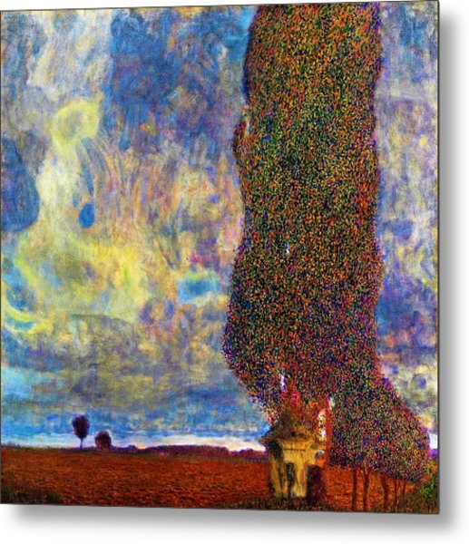Approaching Thunderstorm,the Large Poplar II - Digital Remastered Edition Metal Print