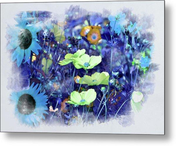 Aqua Blue Metal Print