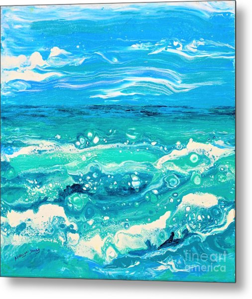 Aqua Seafoam Metal Print