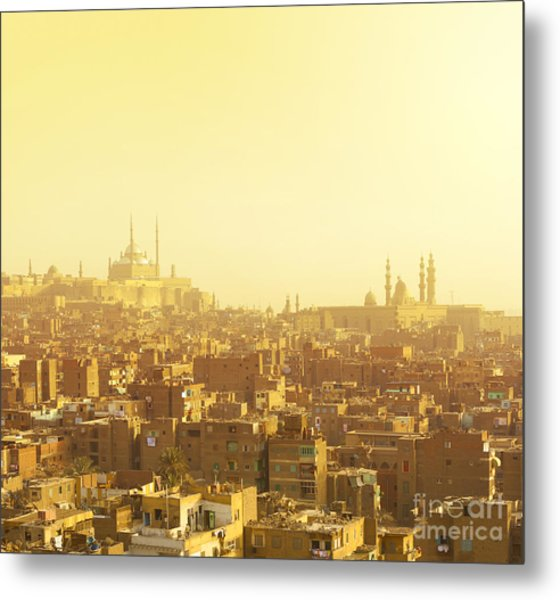 Arabian City In Yellow Gamma. Cairo Metal Print