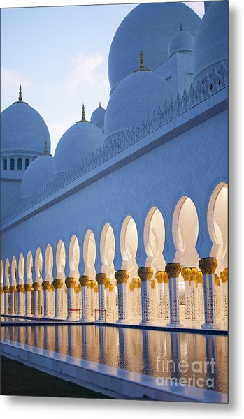 Arches Of Grand Mosque Of Abu Dhabi Metal Print