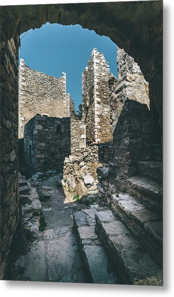 Architecture Of Old Vathia Settlement Metal Print