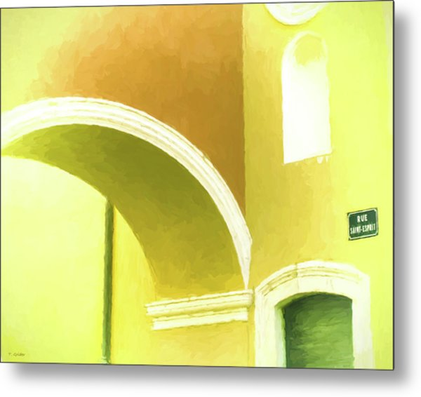 Archway At Antibes Metal Print by Tony Grider