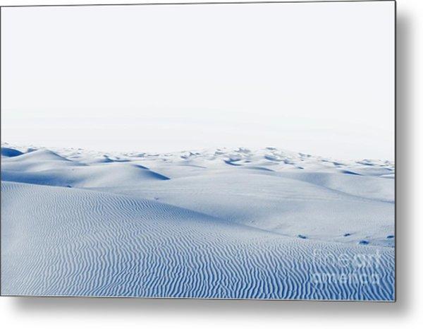Arctic Desert. Winter Landscape With Metal Print